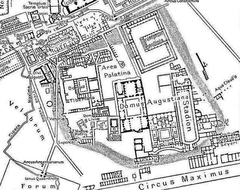 Kaiserpaläste auf dem palatin in rom